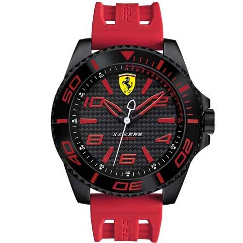 825c86681fb Relógio Scuderia Ferrari Masculino Borracha Vermelha - 830308