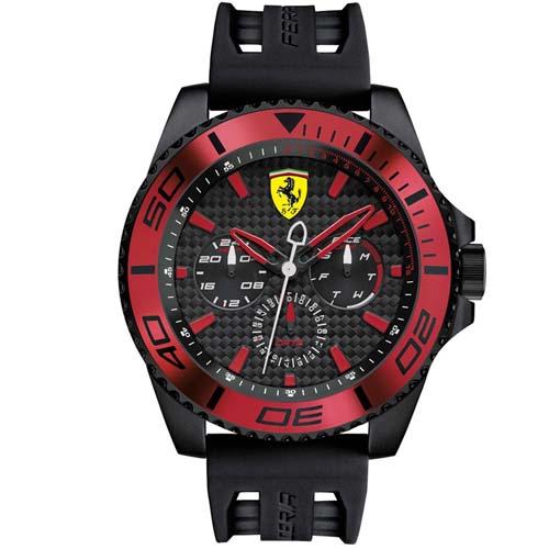 2e3371e3945 Relógio Scuderia Ferrari Masculino Borracha Preta - 830310
