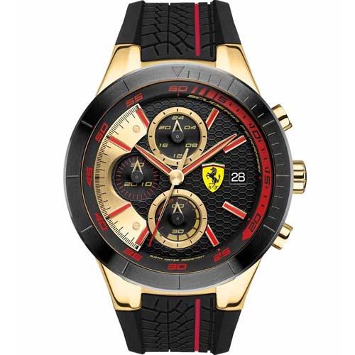 e9c6f9313c4 Relógio Scuderia Ferrari Masculino Borracha Preta - 830298