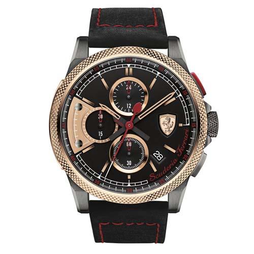 b8207ef916e Relógio Scuderia Ferrari Masculino Couro Preto - 830313