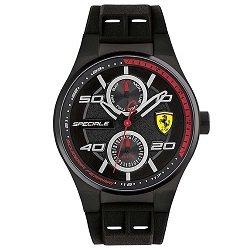 7dd14169521 Relógio Scuderia Ferrari Masculino Borracha Preta - 830356
