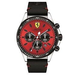 55c96a9f0a0 Relógio Scuderia Ferrari Masculino Couro Preto - 830387