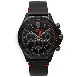 39782a81336 Relógio Scuderia Ferrari Masculino Couro Preto - 830434