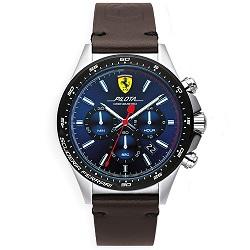 cd69504a681 Relógio Scuderia Ferrari Masculino Couro Marrom - 830435