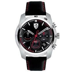 841fb96a638 Relógio Scuderia Ferrari Masculino Nylon Preto - 830444