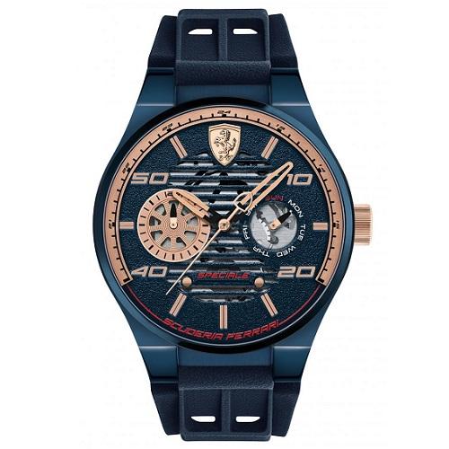 1883539dea0 Relógio Scuderia Ferrari Masculino Borracha Azul - 830459