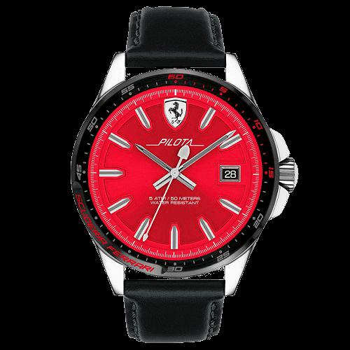 edf357a2198 Relógio Scuderia Ferrari Masculino Couro Preto - 830489