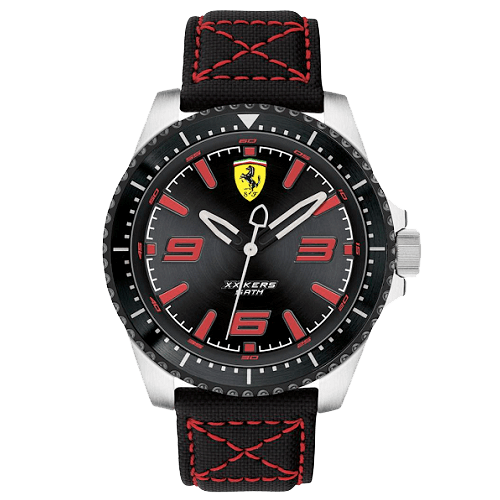 c63777a386d Relógio Scuderia Ferrari Masculino Nylon Preto - 830483
