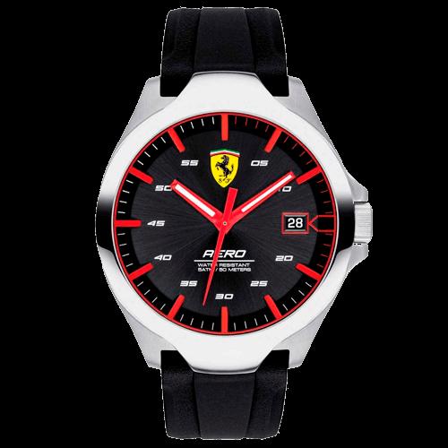 d26dd7e4220 Relógio Scuderia Ferrari Masculino Borracha Preta - 830506
