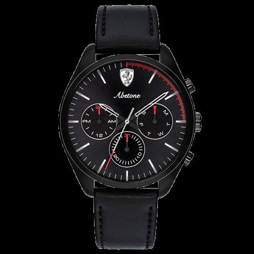172edf60880 Relógio Scuderia Ferrari Masculino Couro Preto - 830503