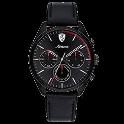 ab74f707118 Relógio Scuderia Ferrari Masculino Couro Preto - 830503