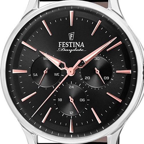 0e2449aad29 Vivara Relógios Relógio festina masculino couro preto - f16991 4. Passe o  mouse para ampliar. Confira o estoque deste produto nas lojas