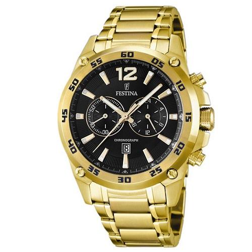 e06efe4398e Relógio Festina Masculino Aço Dourado - F16806 3