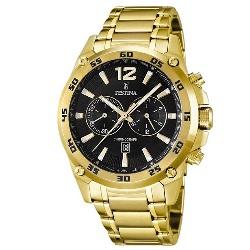 23e13c22bde Relógio Festina Masculino Aço Dourado - F16806 3