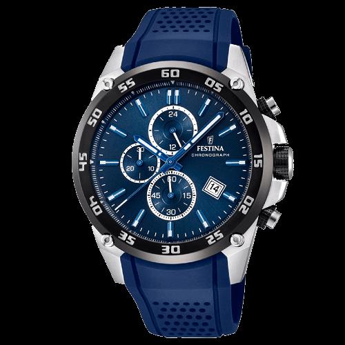 6942ee45096 Relógio Festina Masculino Borracha Azul - F20330 2