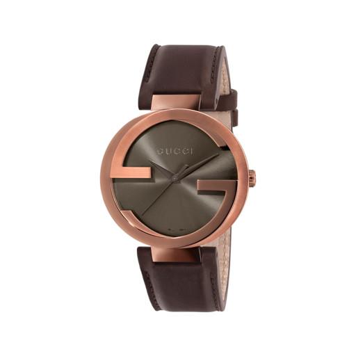 524a2667bfe83 Relógio Gucci Unissex Couro Marrom - YA133207
