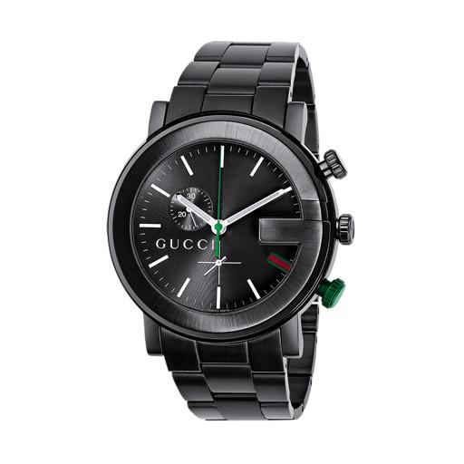 Relógio Gucci Masculino Aço Preto - YA101331 d088bef2e4