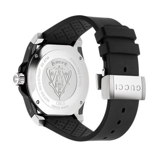 0f6f96a9922 Relógio Gucci Masculino Borracha Preta - YA136204