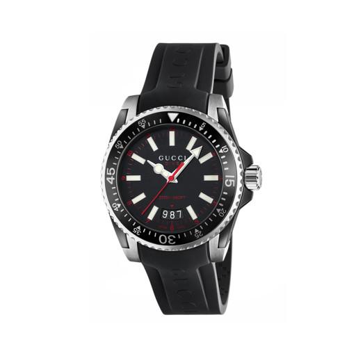 d274874e44f Relógio Gucci Masculino Borracha Preta - YA136303R  5.690