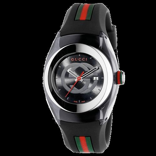 d5dee29326850 Relógio Gucci Feminino Borracha Preta - YA137301