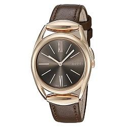 a088c88b029e9 Relógio Gucci Feminino Couro Marrom - YA140408