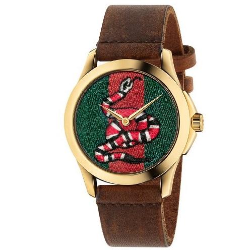 719781d35c2 Relógio Gucci Feminino Couro Marrom - YA1264012