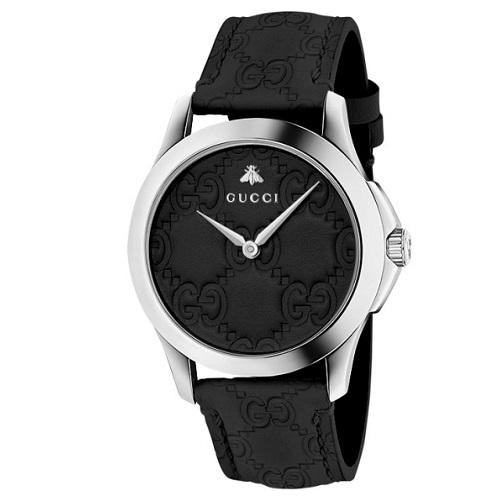 Relógio Gucci Unissex Couro Preto - YA1264031 08f2674bbc