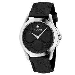 fb3fd66f2ee36 Relógio Gucci Unissex Couro Preto - YA1264031