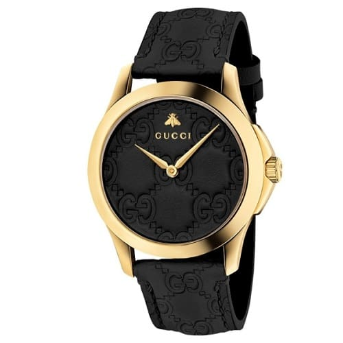 a00042c46 Relógio Gucci Feminino Couro Preto - YA1264034