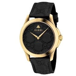 cf819a5e824 Relógio Gucci Feminino Couro Preto - YA1264034