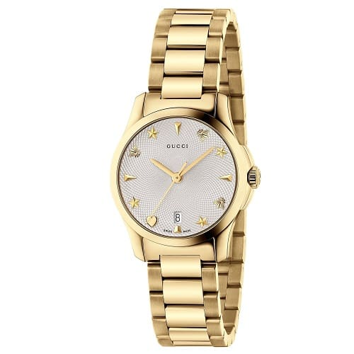 74fb2e3e2 Relógio Gucci Feminino Aço Dourado - YA126576