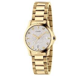 8000aa1cd24 Relógio Gucci Feminino Aço Dourado - YA126576