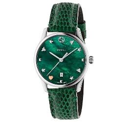 Relógio Gucci Feminino Couro Verde - YA1264042 4d3470f14f