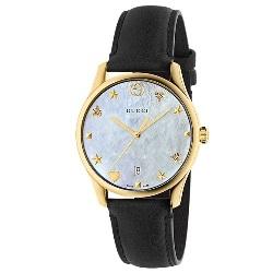 ebfcc3a5f50 Relógio Gucci Feminino Couro Preto - YA1264044