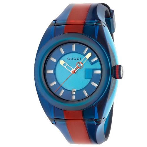 99ba56d1049 Relógio Gucci Masculino Borracha Azul e Vermelho - YA137112