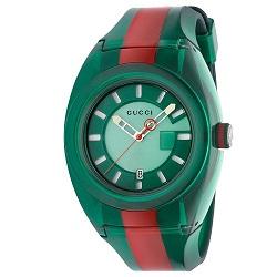 f15ea35f75ea8 Relógio Gucci Masculino Borracha Verde e Vermelho - YA137113
