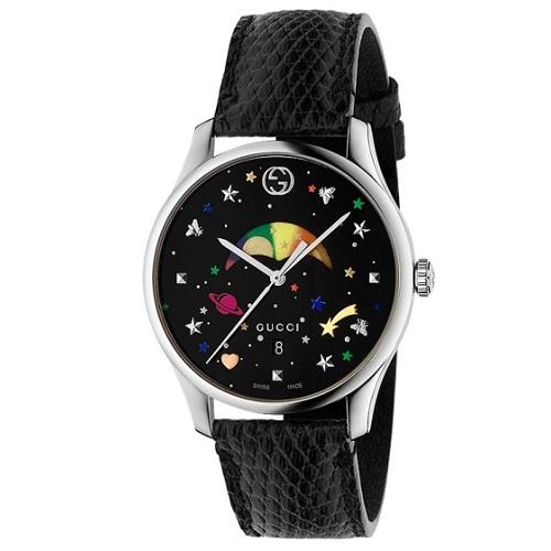 df605fceffd Relógio Gucci Feminino Couro Preto - YA1264045