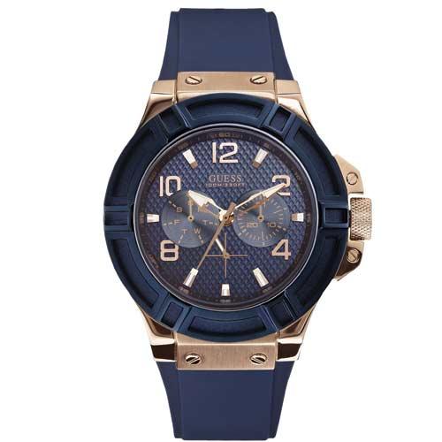 Relógio Guess Masculino Silicone Azul - W0247G3 60656a88b6