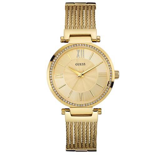 a8864c8ab54 Relógio Guess Feminino Aço Dourado - W0638L2