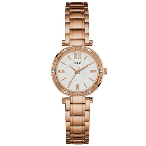 bdc716cefa55d Relógio Guess Feminino Aço Rosé - W0767L3