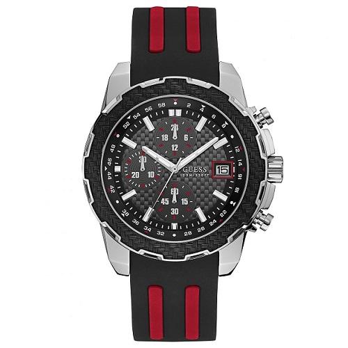 5dbba45d6e46b Relógio Guess Masculino Borracha Preta e Vermelha - W1047G1