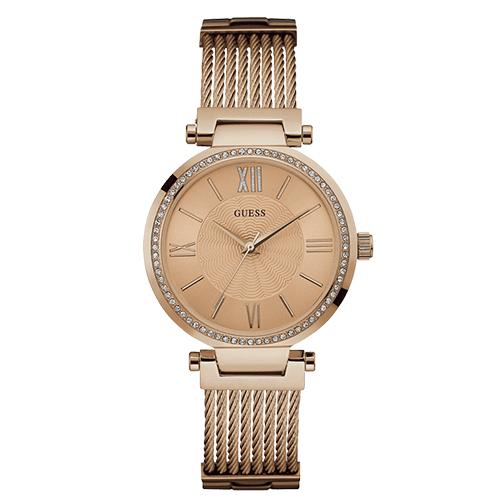 2bfce636df54f Relógio Guess Feminino Aço Rosé - W0638L4