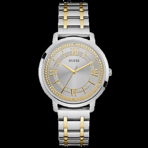 669cf899996 Relógio Guess Feminino Aço Prateado e Dourado - W0933L5
