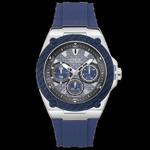 1e2a05cc6f4af Relógio Guess Masculino Borracha Azul - W1049G1