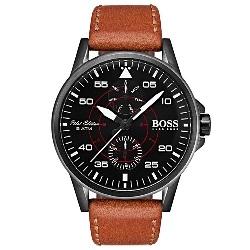 c18f1465faa Relógio Hugo Boss Masculino Couro Marrom - 1513517