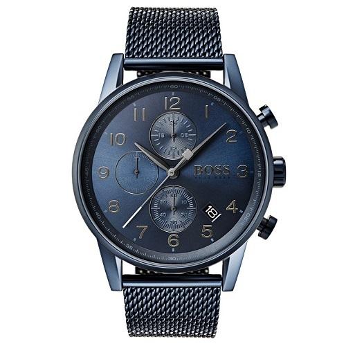 9c4fa4160e6 Relógio Hugo Boss Masculino Aço Azul - 1513538