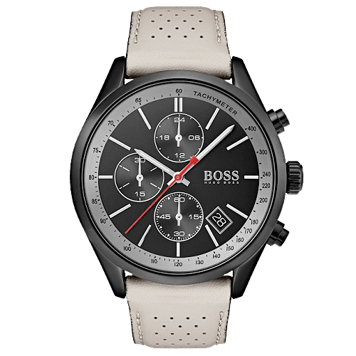 Relógio Hugo Boss Masculino Couro Bege - 1513562 b07fe91073