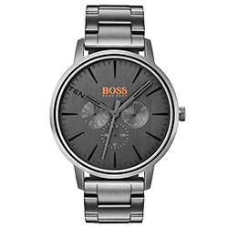 0a96ef02a2a Relógio Hugo Boss Masculino Aço Cinza - 1550068