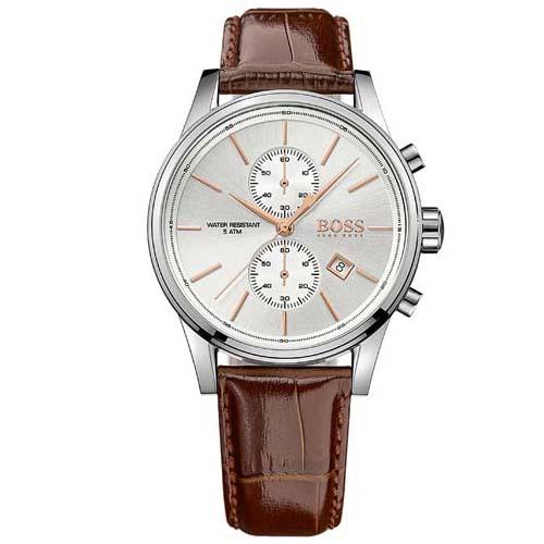 2cd0872df6d Relógio Hugo Boss Masculino Couro Marrom - 1513280