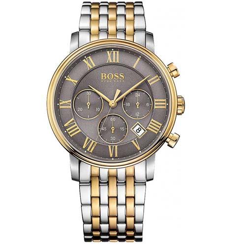 8fea25bf5f7 Relógio Hugo Boss Masculino Aço Prateado e Dourado - 1513325